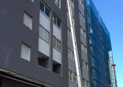 elevador de fachada montamuebles Vigo